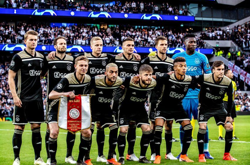 Ajax arrecadou 300 milhões de euros em três temporadas com vendas de atletas