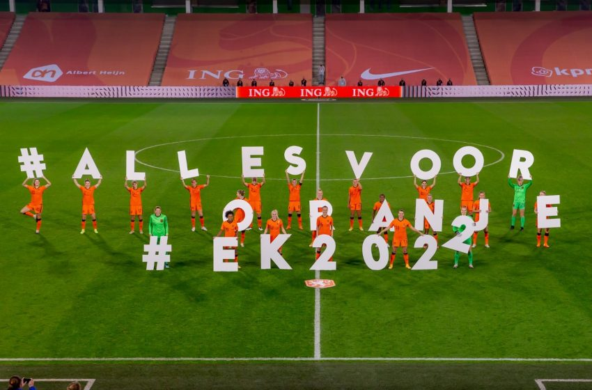 Holanda garante vaga na Eurocopa feminina com goleada diante da Estônia