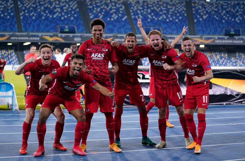 Mesmo com tantos problemas, AZ Alkmaar surpreende o SSC Napoli e vence na Itália por 1 a 0