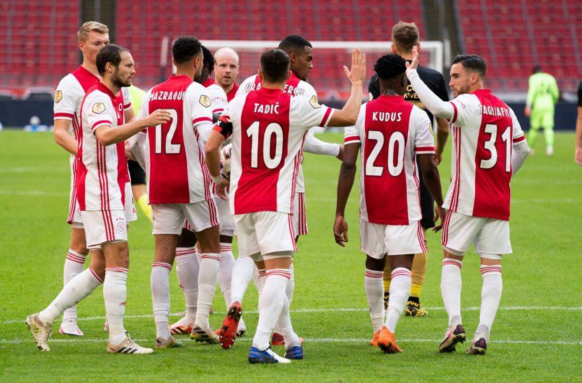 Com dois gols de Dušan Tadić, Ajax bate SC Heerenveen por 5 a 1