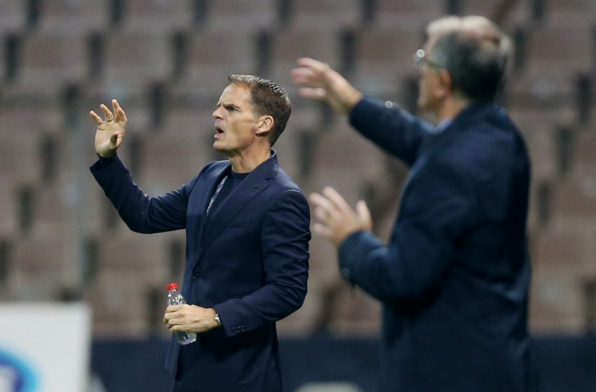 """Frank de Boer: """"Nós tivemos cinco boas chances, nós tínhamos que ter feito uma"""""""