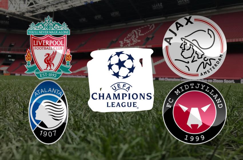 Ajax encontrará novamente um inglês na fase de grupos da Liga dos Campões