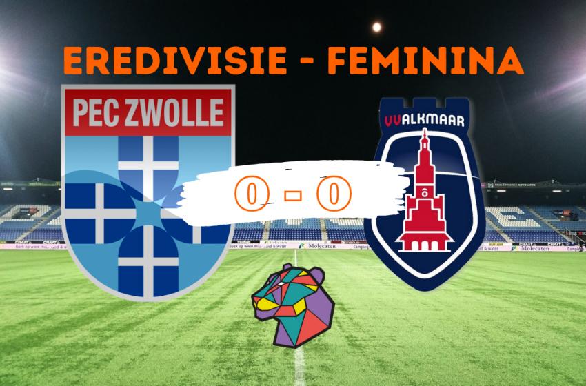 PEC Zwolle e vv Alkmaar ficam no 0 a 0 em Zwolle
