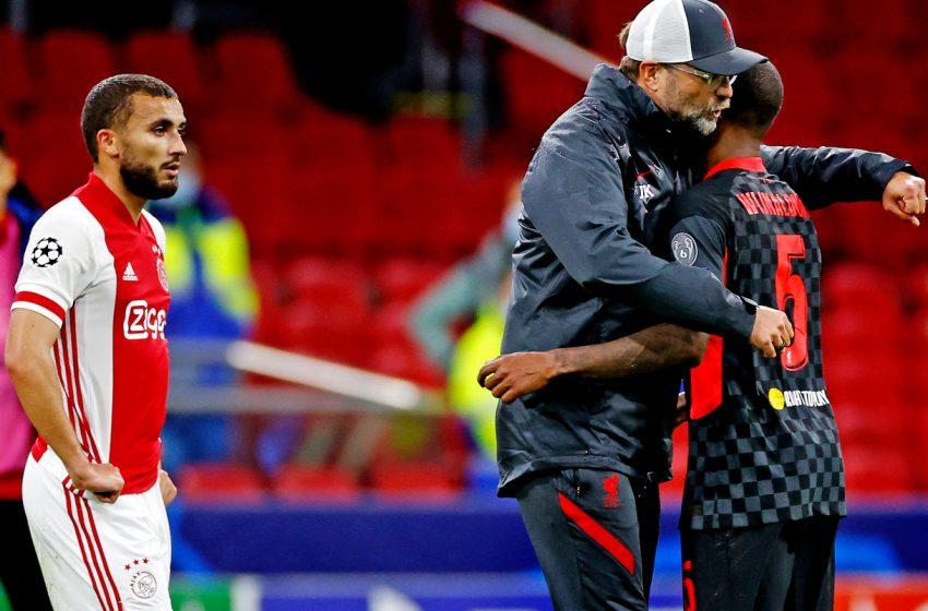"""Jürgen Klopp e Georginio Wijnaldum se mostram surpreso com a qualidade do Ajax: """"Uma equipe do topo do futebol mundial"""""""