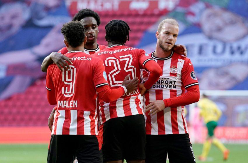 Com quatro gols anulados, o PSV vence o Fortuna Sittard por 2 a 0