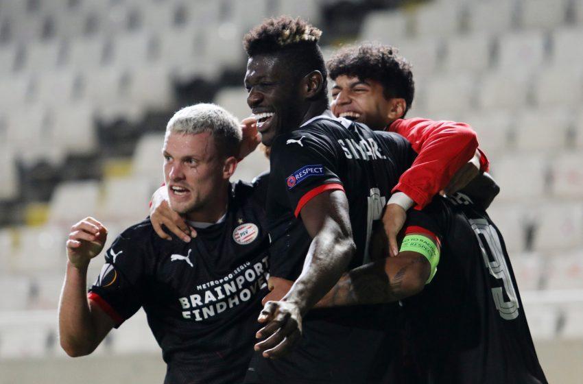 PSV passa sufoca no Chipre, mas vence de virada o AC Omónia Nicósia