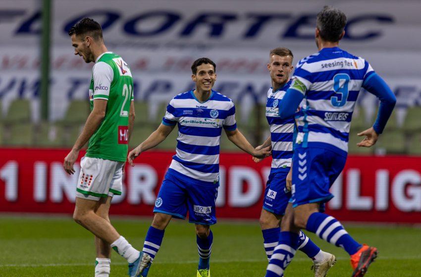 De Graafschap vence o FC Dordrecht por 2 a 0 e assume provisoriamente a liderança da segunda divisão