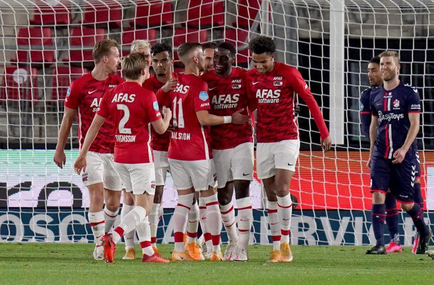 AZ Alkmaar luta para vencer FC Emmen por 1 a 0