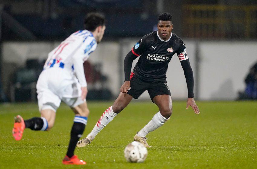 Dumfries cobra mais vontade do PSV, após empate com o SC Heerenveen