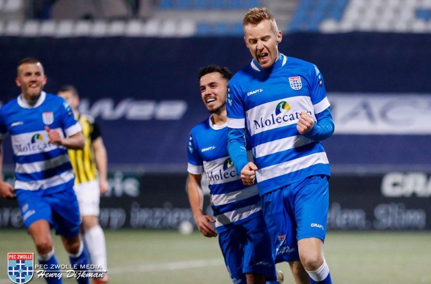PEC Zwolle vira diante do Vitesse que novamente teve um jogador expulso