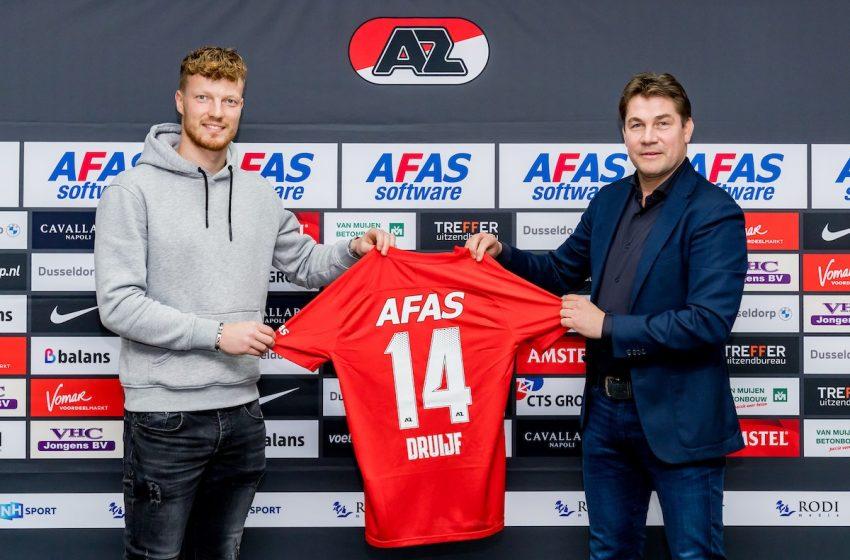 AZ Alkmaar renova contrato de Ferdy Druijf