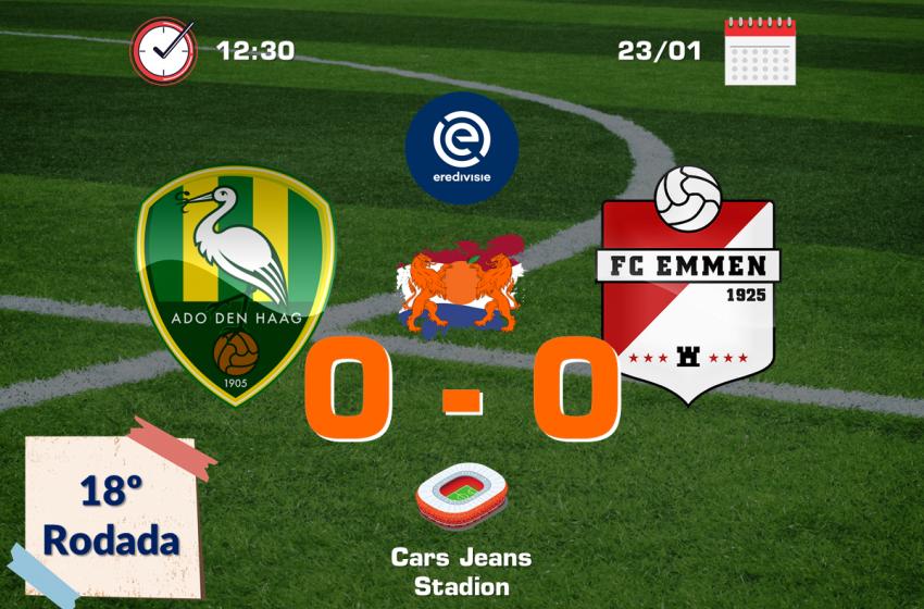 ADO Den Haag e FC Emmen ficam no empate sem gols