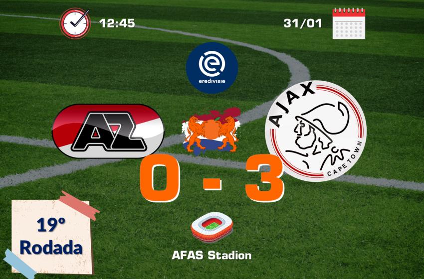 Brasileiros marcam e Ajax bate o AZ em Alkmaar por 3 a 0