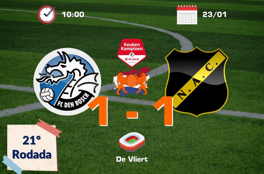 FC Den Bosch empata com o NAC Breda e segue a quatro meses sem vencer