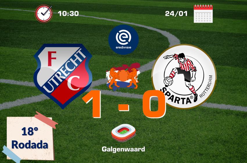 Nos minutos finais, FC Utrecht encontra gol que garante vitória diante do Sparta Rotterdam