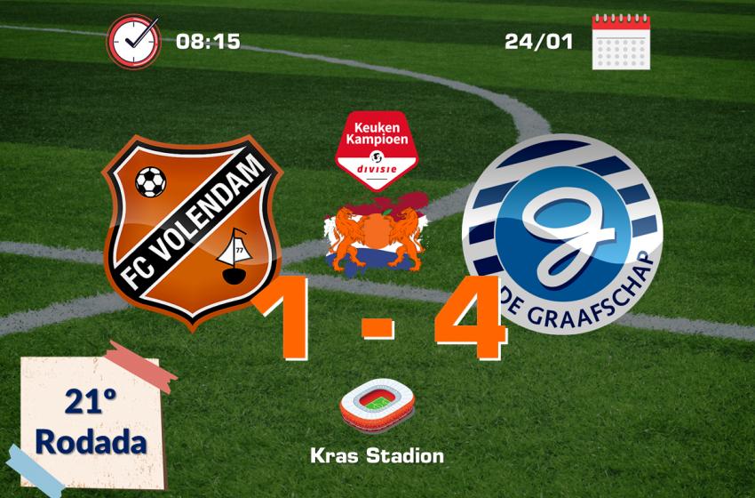 De Graafschap bate FC Volendam por 4 a 1