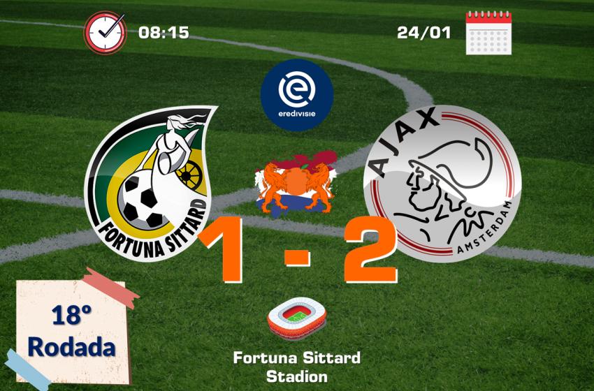 Ajax passa sufoco, mas consegue vitória diante do Fortuna Sittard