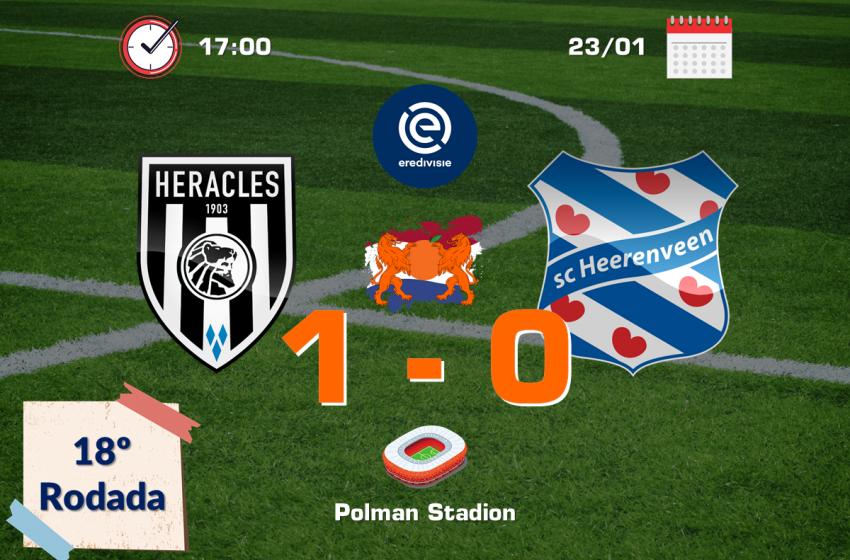 Heracles bate o SC Heerenveen em casa pelo placar mínimo de 1 a 0