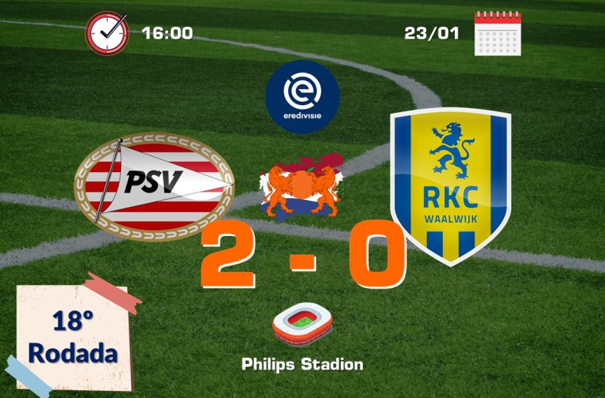 PSV vence segunda seguida na Eredivisie e volta a encostar nas primeiras colocações