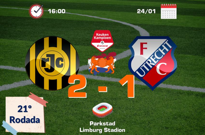 Roda JC bate Jong FC Utrecht e continua na briga para entrar no G7