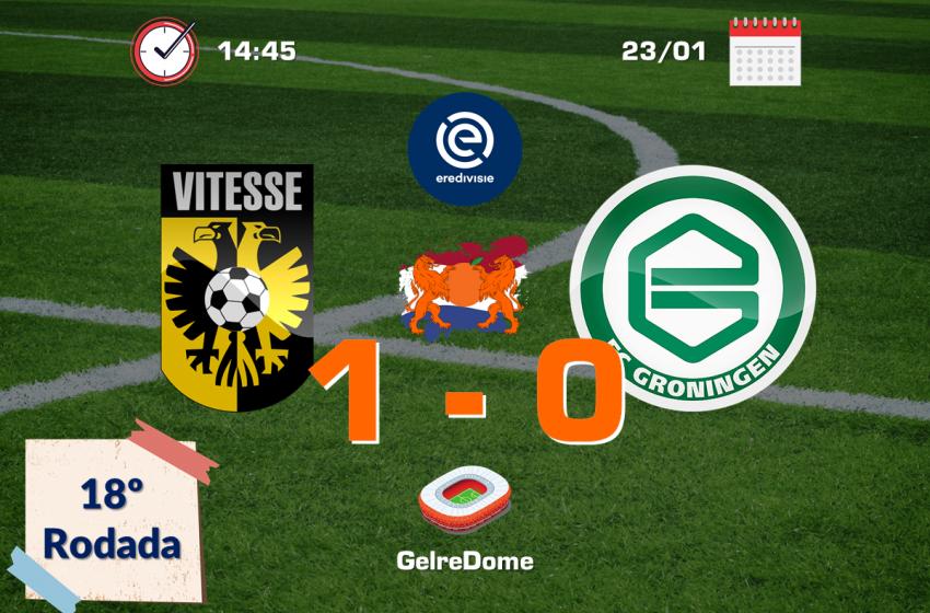Vitesse faz o dever de casa, bate o FC Groningen e segue na ponta da Eredivisie