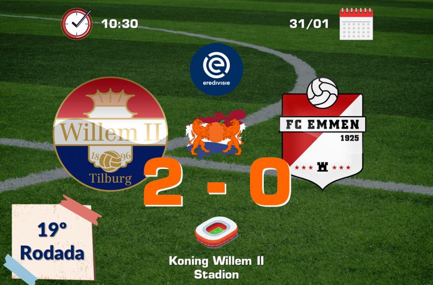 Willem II volta a vencer na Eredivisie e FC Emmen continua sem vitória na competição