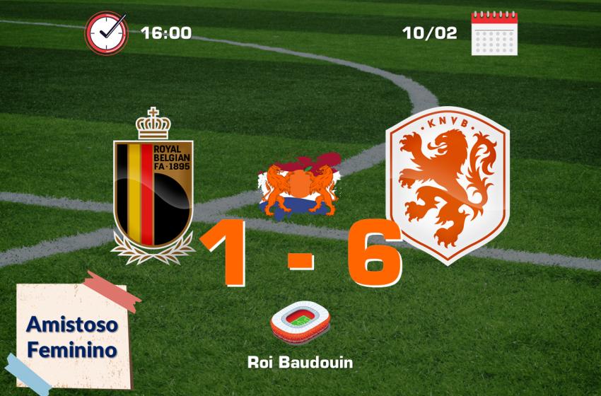 Holanda bate a Bélgica fora de casa em amistoso entre seleções femininas
