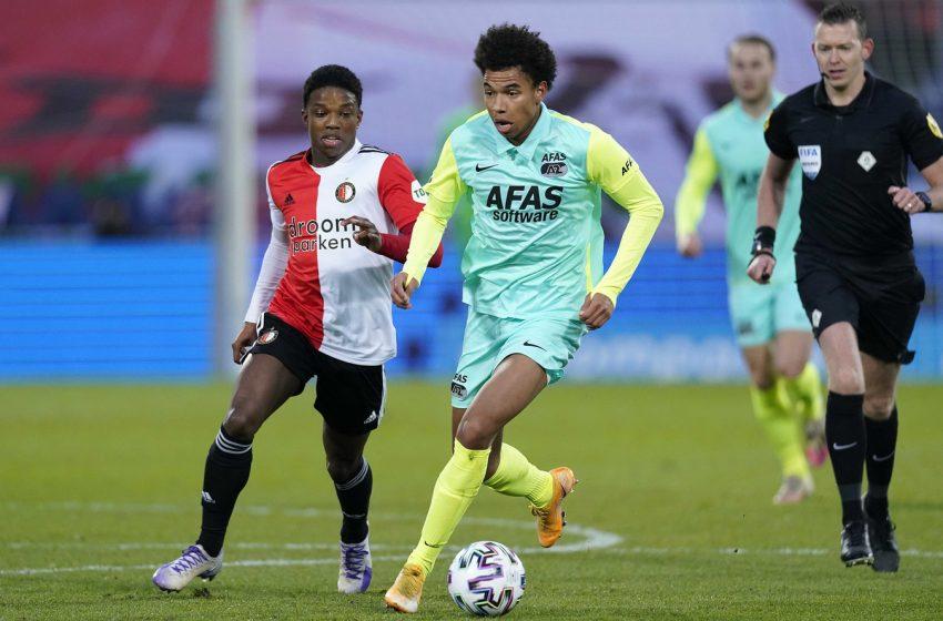 Calvin Stengs pode ser opção do AZ Alkmaar contra o Feyenoord