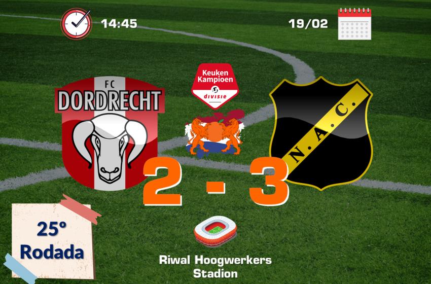 NAC Breda sofre para vencer o FC Dordrecht fora de casa