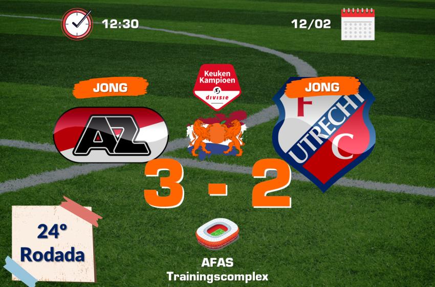 Após vexame, Jong AZ bate Jong Utrecht pela segunda divisão