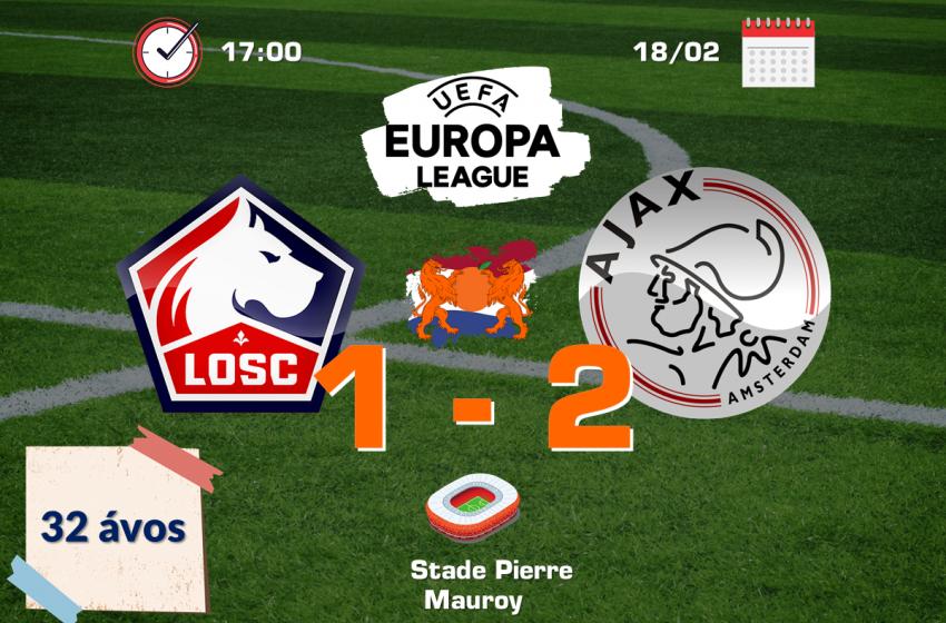 Ajax vence Lille de virada e trás vantagem para Amsterdã