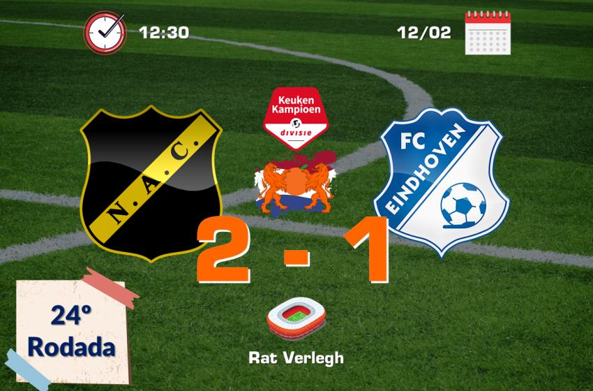 NAC Breda consegue vitória de virada diante do FC Eindhoven