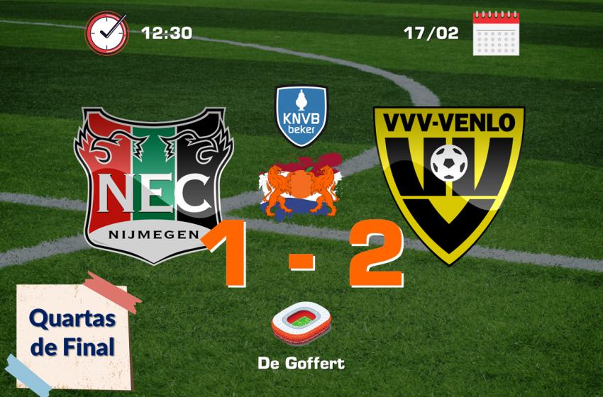 VVV-Venlo garante vaga na semifinal da Copa da Holanda