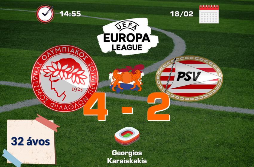 PSV perde na Grécia por 4 a 2