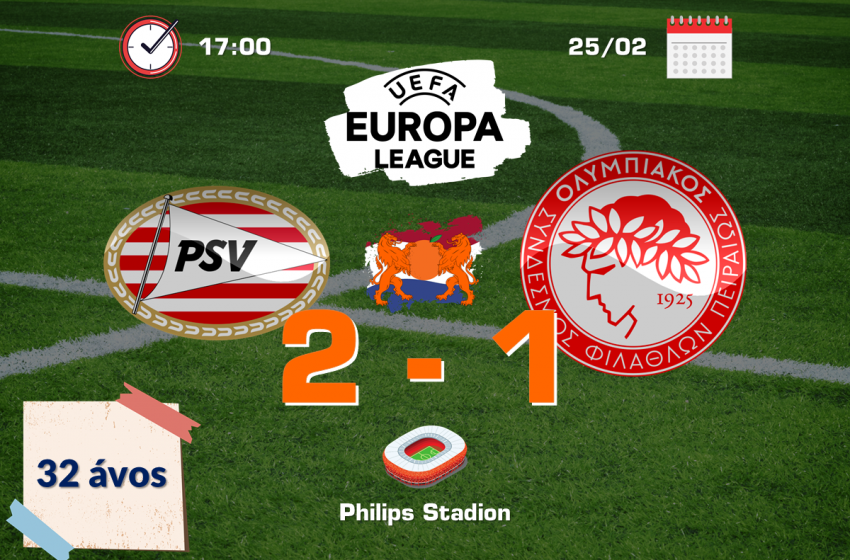 PSV dá adeus a UEFA Europa League