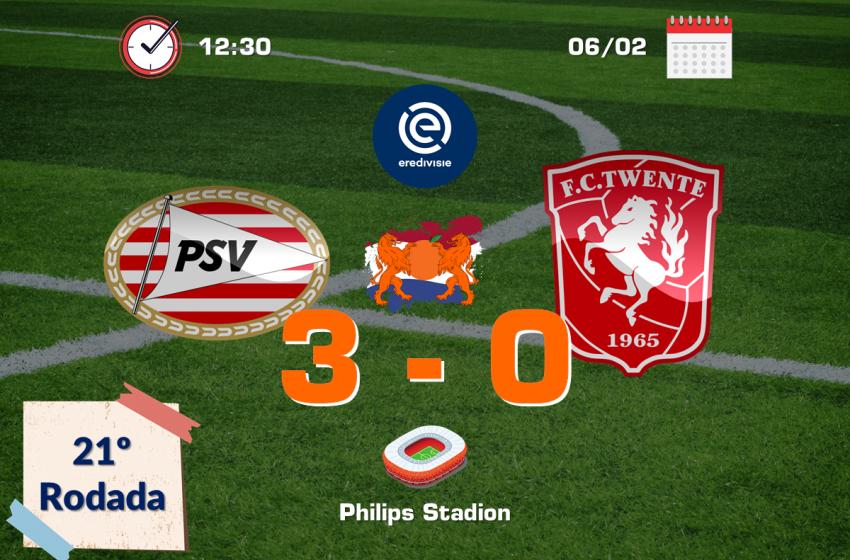 PSV atropela FC Twente em Eindhoven