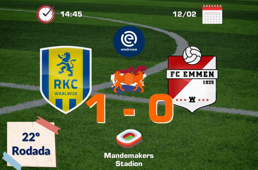 RKC Waalwijk sofre para vencer do FC Emmen por 1 a 0