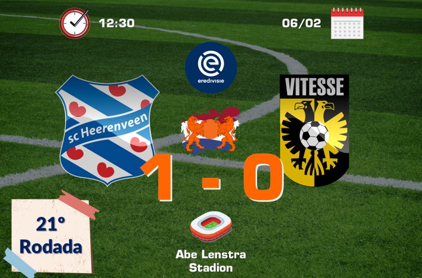 Nos minutos finais, Henk Veerman garante vitória do SC Heerenveen diante do Vitesse