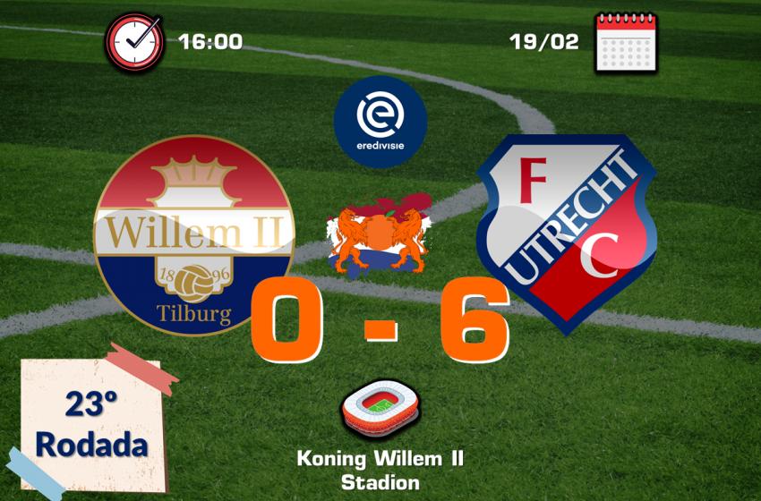 FC Utrecht bate por 6 a 0 o Willem II