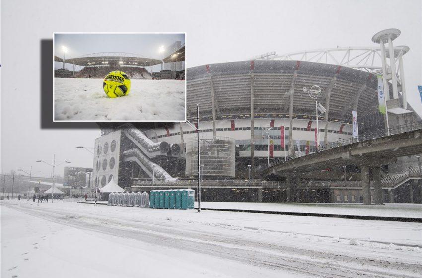 KNVB cancela todos os jogos deste domingo devido a nevasca na Holanda