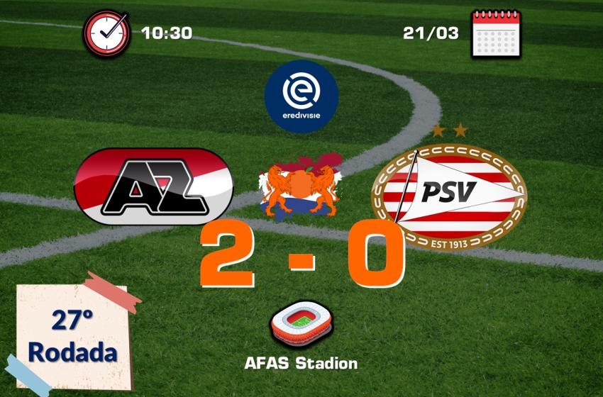 AZ Alkmaar vence PSV pela quarta vez consecutiva