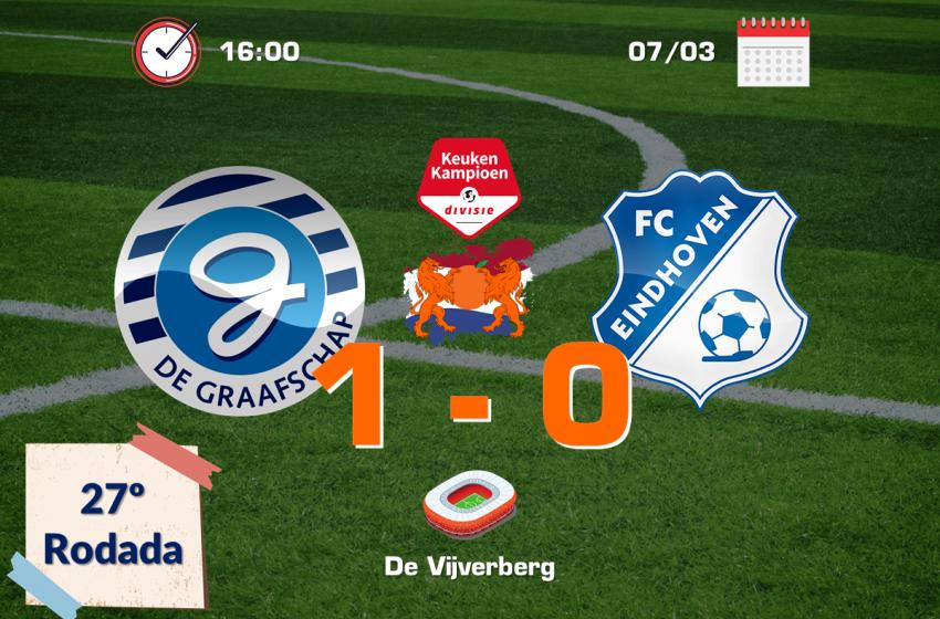 Nos minutos finais, De Graafschap garante três pontos diante do FC Eindhoven