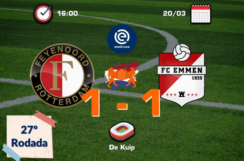 Feyenoord tropeça em casa diante do FC Emmen