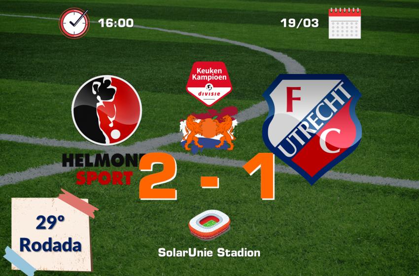 Helmond Sport bate Jong FC Utrecht por 2 a 1