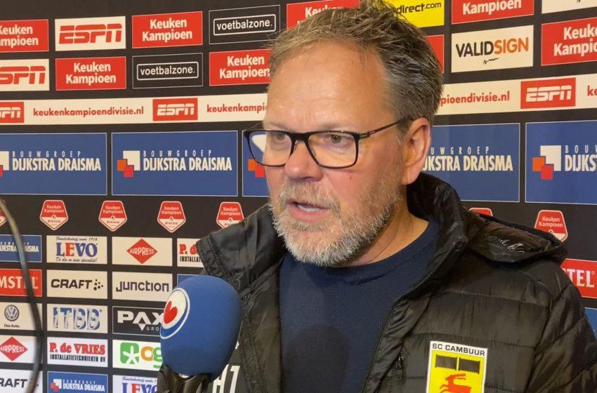 Henk de Jong afirma que a paciência foi o que determinou a vitória do SC Cambuur diante do FC Eindhoven