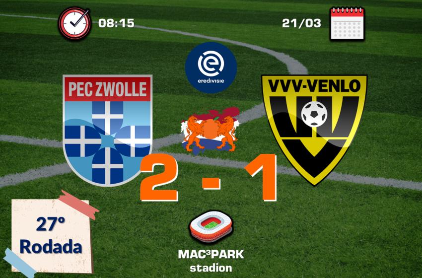 Após cinco anos, PEC Zwolle volta a vencer VVV-Venlo em casa