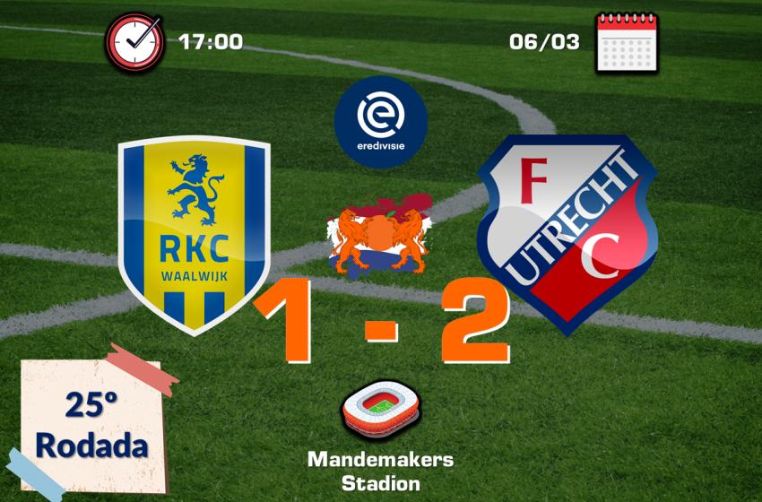 Nos acréscimos, FC Utrecht garante vitória diante do RKC Waalwijk