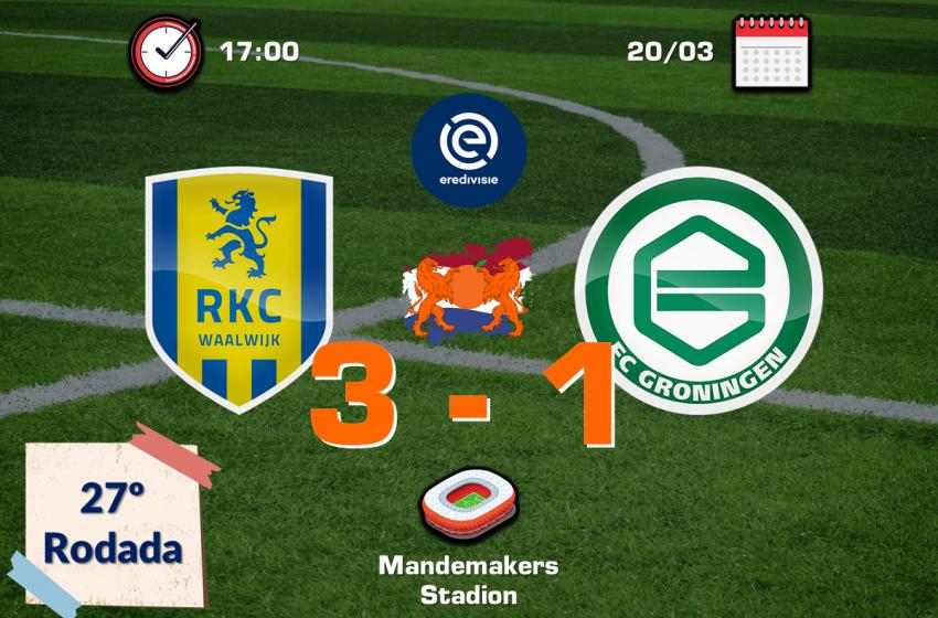 RKC Waalwijk volta a vencer o FC Groningen após nove anos