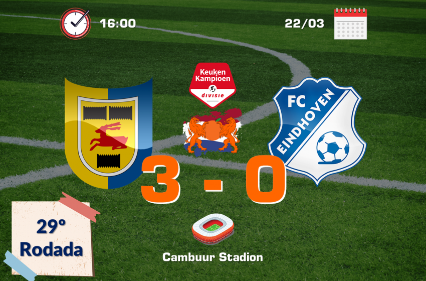 SC Cambuur vence FC Eindhoven e dá um grande passo rumo ao retorno para a Eredivisie