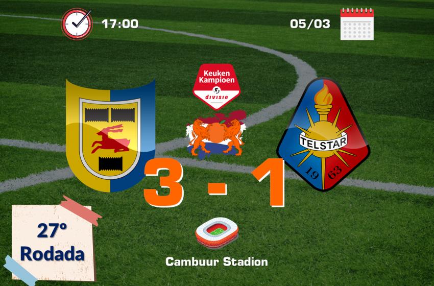 SC Cambuur bate SC Telstar e continua na liderança da segundona
